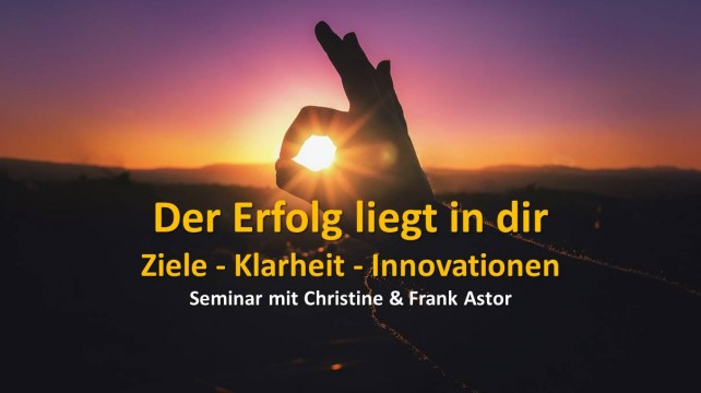 Innovationswochende Frank und Christine Astor