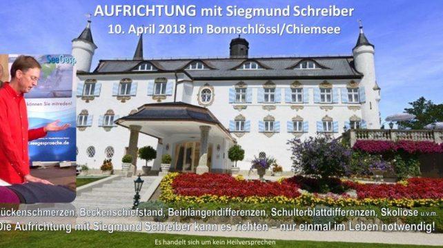 Aufrichtung Siegmund Schreiber Chiemsee
