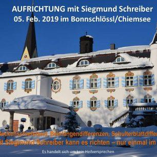 Aufrichtung Siegmund Schreiber Bonnschlössl